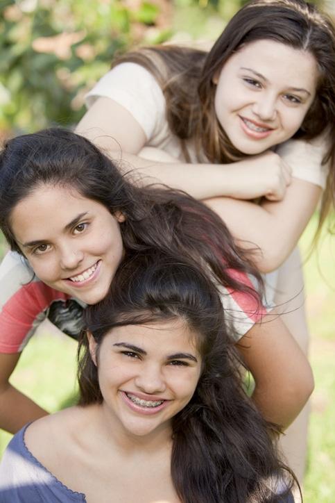 Teen Friends Having Fun